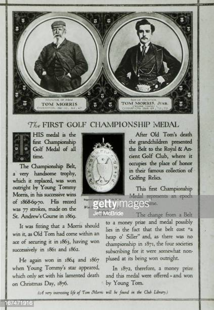 British Open Medallion The First Golf Championship Medal This medal is the first Championship Golf Medal of all time The championship belt a very...