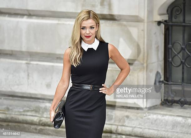 British opera singer Katherine Jenkins arrives for a Best of Creative reception at the Foreign and Commonwealth Office in central London on June 30...