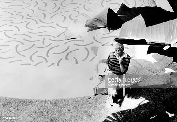 British painter draughtsman printmaker stage designer and photographer David Hockney in Los Angeles circa 1978