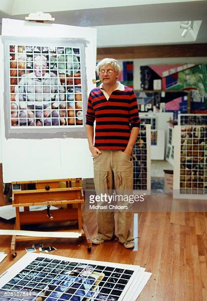 British painter draughtsman printmaker stage designer and photographer David Hockney in Los Angeles circa 1978