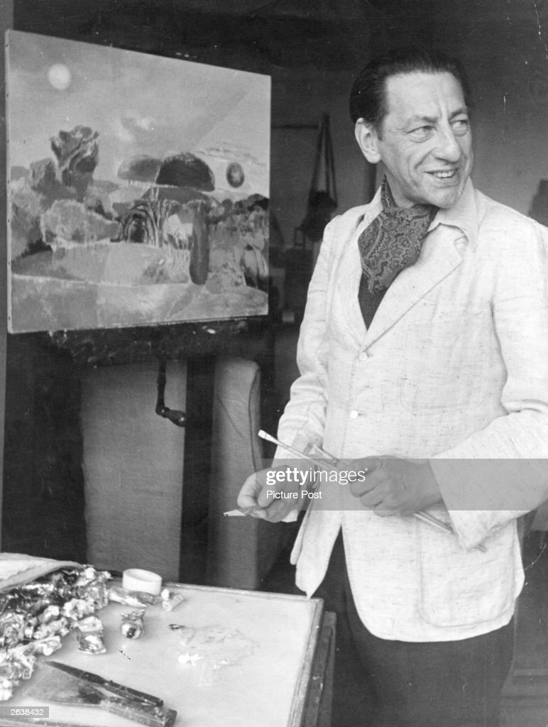 British painter Paul Nash (1889 - 1946) at work. He was the official war artist in both World Wars. Original Publication: Picture Post - 1756 - Modern Artists Paint For The Forces - pub. 1944