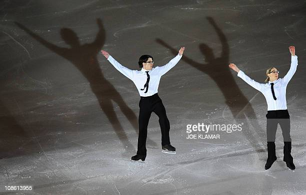 British pair Sinead Kerr and John Kerr perform during the Gala exhibition of the European Figure Skating Championships on January 30 2011 AFP...