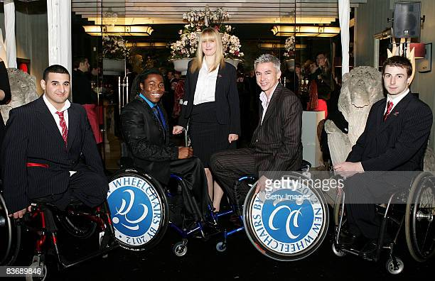 British Paralympian's Ali Jawad Ade Adepitan MBE Danielle Brown Olympian Jonathan Edwards CBE and Paralympian Simon Brown pose for the camera during...