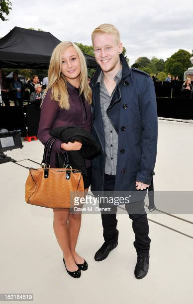 British Paralympic Gold Medalist Jonnie Peacock arrives at the Burberry Spring Summer 2013 Womenswear Show during London Fashion Week on September 17...