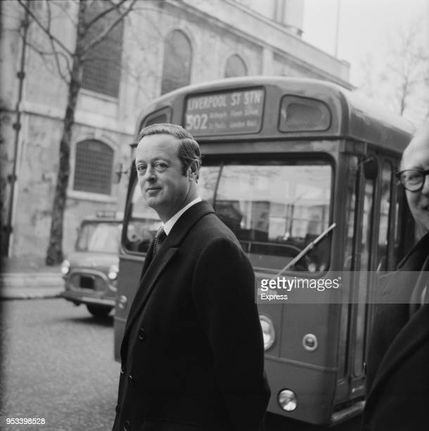 British peer John Spencer-Churchill, 11th Duke of Marlborough leaving the Royal Courts of Justice following his divorce with Tina Onassis Niarchos ,...
