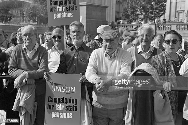 British pensioners demonstrating for better provision for the elderly, London, 17th September 1998.