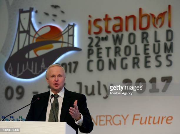 British Petroleum Group Chief Executive Bob Dudley speaks during the 22nd World Petroleum Congress at Lutfi Kirdar International Convention and...
