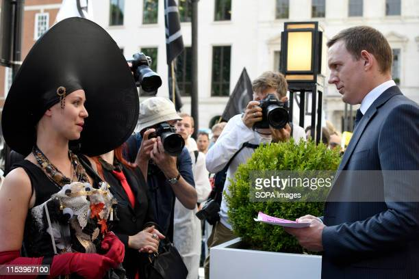 S SQUARE LONDON GREATER LONDON UNITED KINGDOM A British Petroleum representative receives a letter and a copy of the XR handbook from environment...