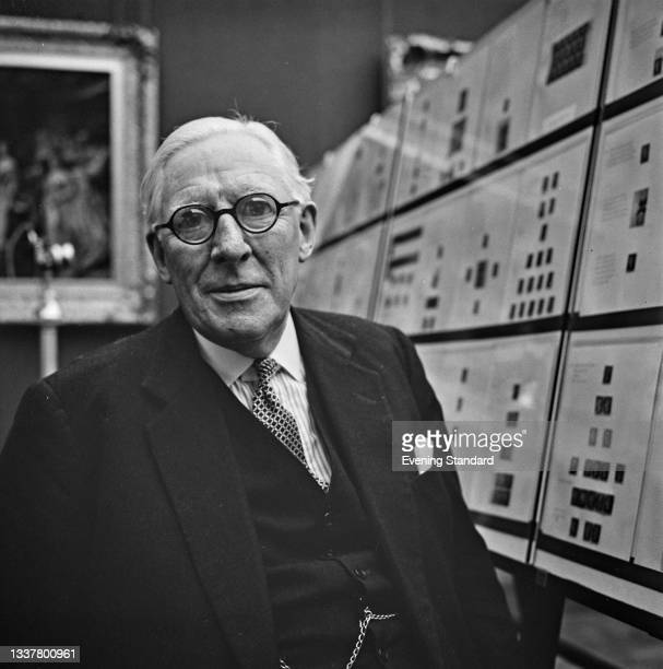 British philatelist Sir John Wilson, 2nd Baronet , Keeper of the Royal Philatelic Collection, UK, 4th November 1965.