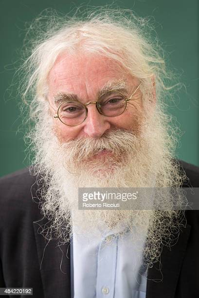 British philologist and Assyriologist Irving Finkel attends a photocall at Edinburgh International Book Festival on August 16 2015 in Edinburgh...