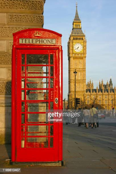 british phone booth & big ben in london - gwengoat stock pictures, royalty-free photos & images