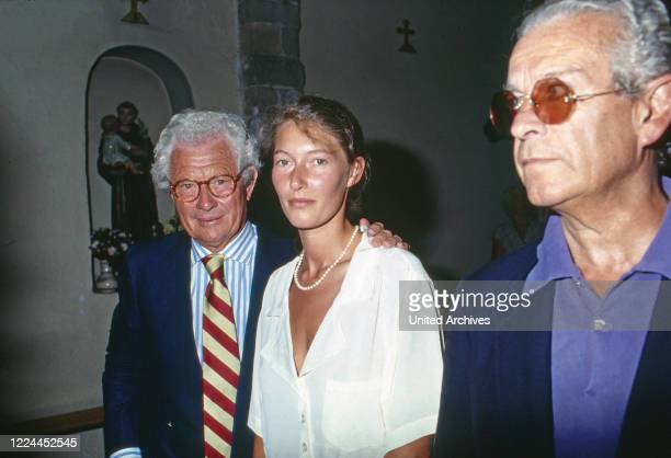 British photographer and movie director David Hamilton at Saint Tropez France 1999