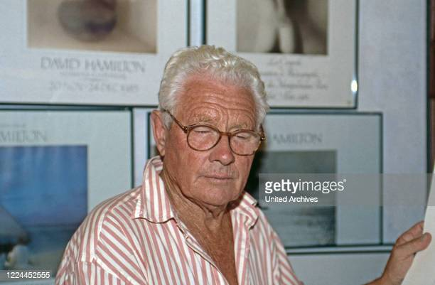 British photographer and movie director David Hamilton at Saint Tropez France 1999