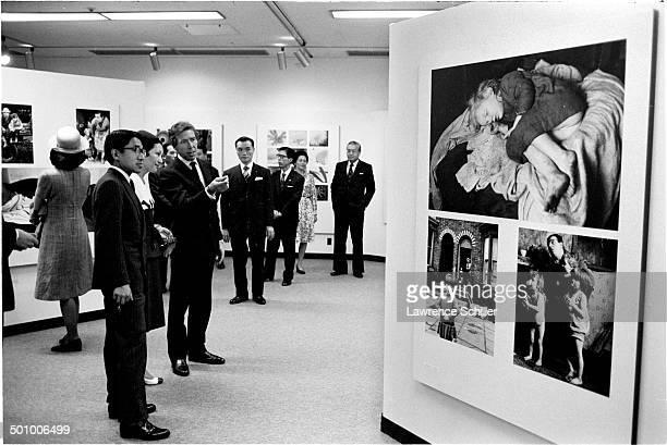 British photographer Antony ArmstrongJones 1st Earl of Snowdon escorts Japanese thenCrown Prince Akihito and thenCrown Princess Michiko through his...