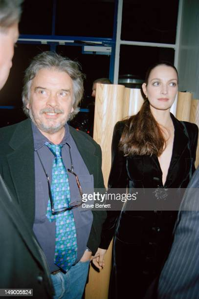 British photographer David Bailey with his wife Catherine Dyer at a party given by Vanity Fair magazine at the River Cafe Hammersmith London 20th...