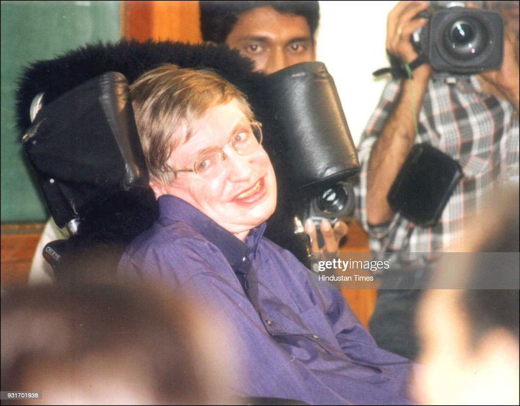British physicist and award-winning author Stephen Hawking at the press conference at Tata Memorial Institute of Fundamental Reserach, on January 6, 2001, in Mumbai. Hawking died, aged 76, at his residence in Cambridge on Wednesday. His 1962 book A Brief History of Time became an international bestseller, making him one of sciences biggest celebrities since Albert Einstein, whose 129th birth anniversary also falls on Wednesday.