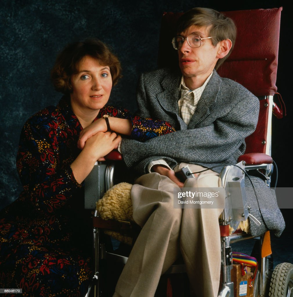 British physicist Professor Stephen Hawking with his first wife Jane Hawking, circa 1990.