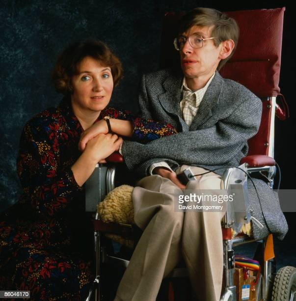 British physicist Professor Stephen Hawking with his first wife Jane Hawking January 1993