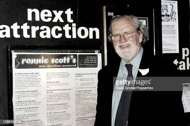 British pianist Eddie Harvey posed at Ronnie Scott's Jazz Club in Soho London on 31st March 2005