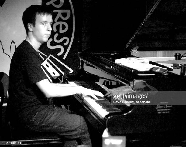 British pianist Frank Harrison performs live on stage at PizzaExpress Jazz Club in Soho London on 3rd October 2001