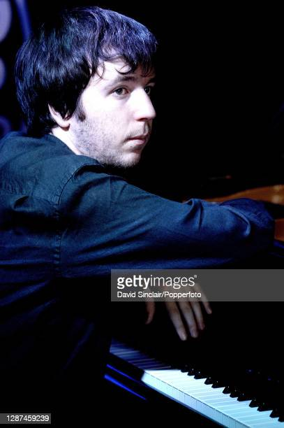 British pianist Frank Harrison performs live on stage at PizzaExpress Jazz Club in Soho London on 26th February 2003