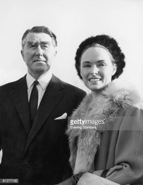 British pirate radio broadcaster Paddy Roy Bates and his wife Joan during legal action which took his station Radio Essex aka BBMS off the air 1st...