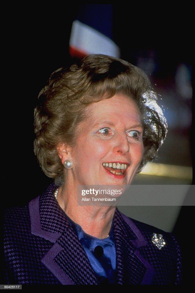 British PM Margaret Thatcher.