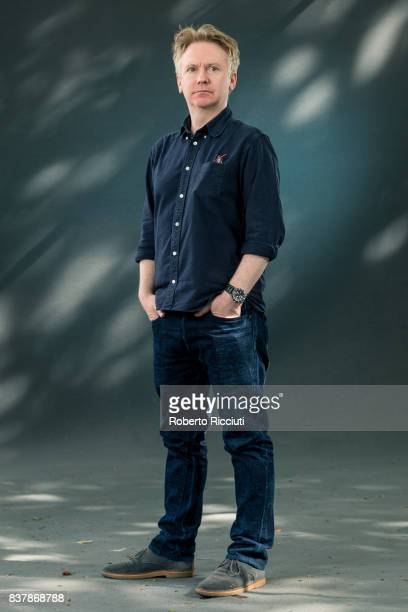 British poet writer and broadcaster Paul Farley attends a photocall during the annual Edinburgh International Book Festival at Charlotte Square...