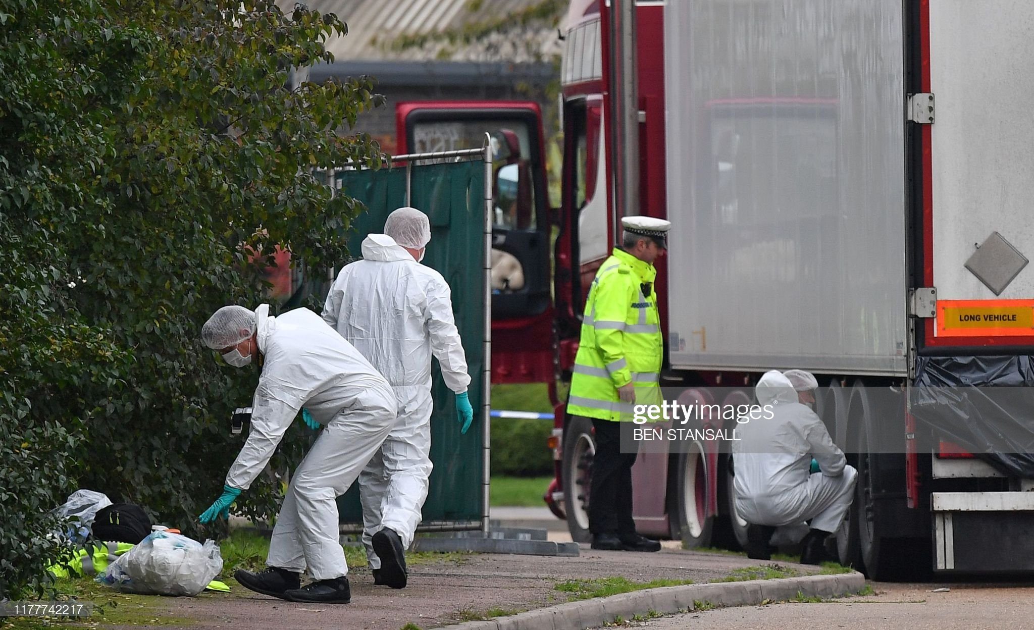 BRITAIN-BULGARIA-POLICE : News Photo
