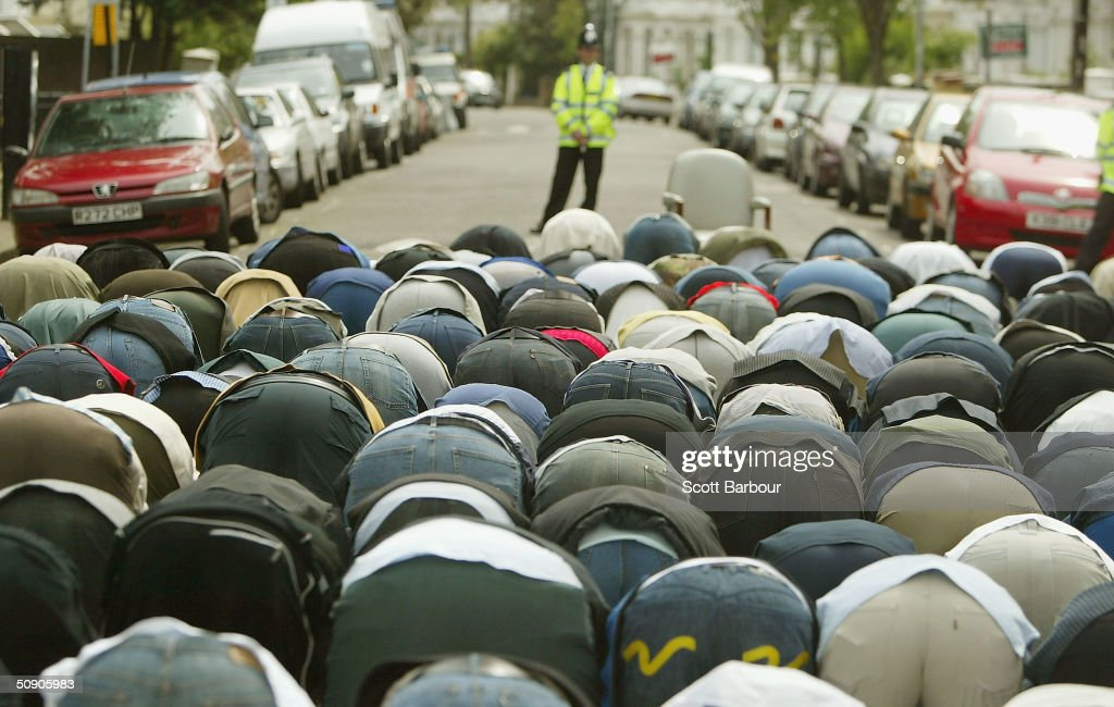Followers of Abu Hamza Al Masri Gather For Friday Prayers : News Photo