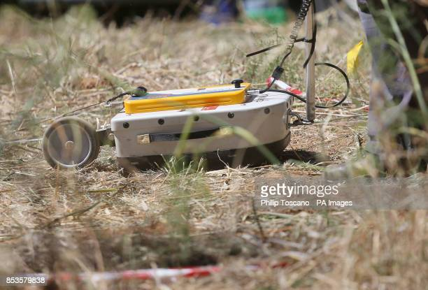 British police using ground penetrating radar equipment in an area of scrubland close to where Madeleine McCann went missing seven years ago in the...