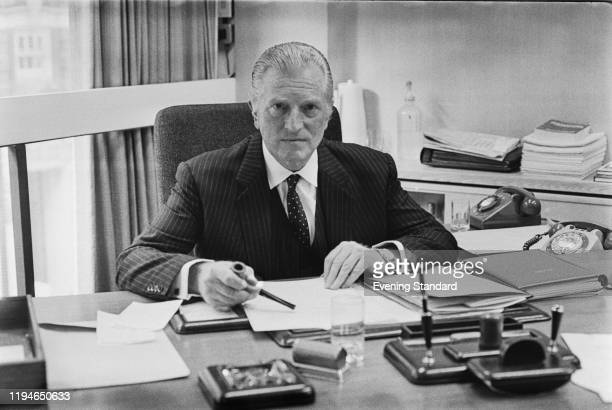 British politician and diplomat John Freeman seated at his desk in London on 9th March 1971 John Freeman has recently been appointed Chairman of...