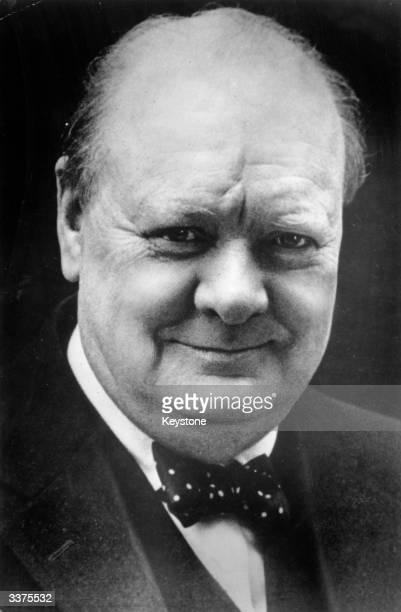 British politician and prime minister of Great Britain Winston Leonard Spencer Churchill