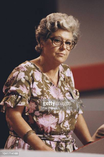 British politician Betty Boothroyd at the Labour Party Conference in Blackpool UK 1985