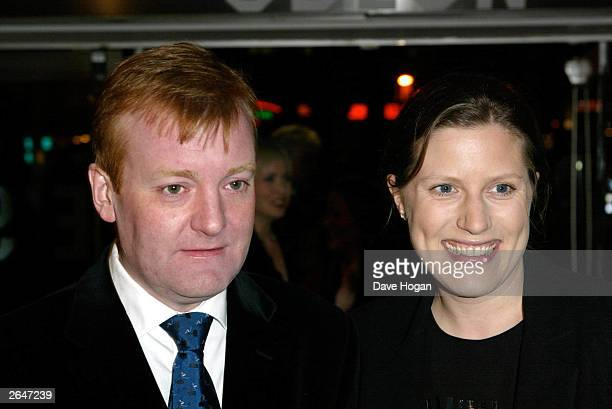 British politician Charles Kennedy and his wife attend the film premiere of Charlotte Gray at the Odeon Cinema on February 12 2002 in London
