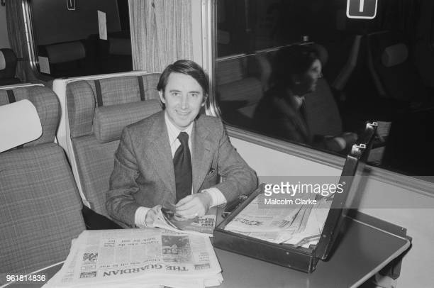 British politician David Steel Leader of the Liberal Party leaves Euston Station in London for Stechford in Birmingham to support Liberal candidate...