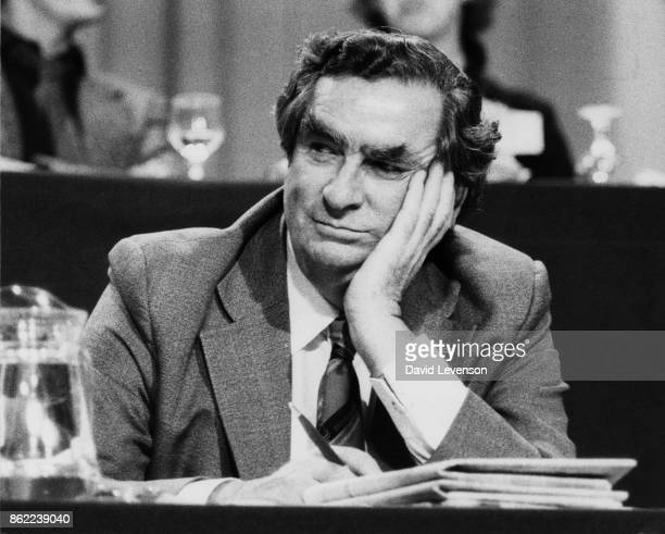 British politician Denis Healey attends a special Labour Party conference at Wembley London to decide the method of selecting the next party leader...