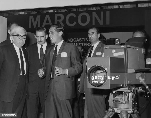 British politician doctor and television executive Charles Hill Baron Hill of Luton with Herbert Bowden after opening the 1st International...