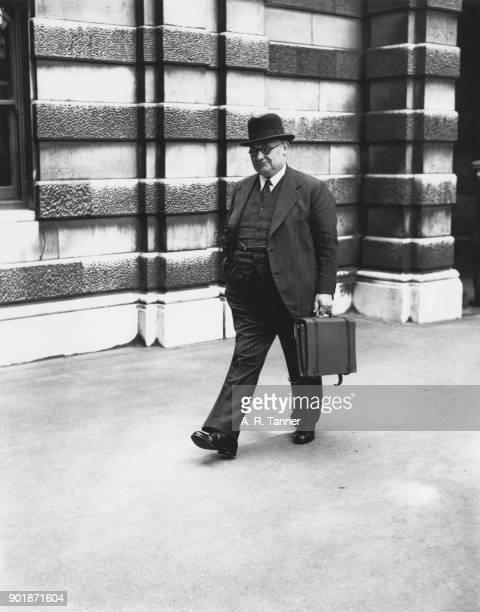 British politician Ernest Bevin the Minister of Labour and National Service arrives at the Ministry of Labour in London 23rd May 1940