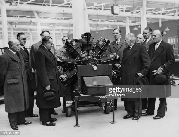 British politician Ernest Brown the Minister of Labour Sir Thomas Phillips the Permanent Secretary at the Ministry of Labour and various Ministry...