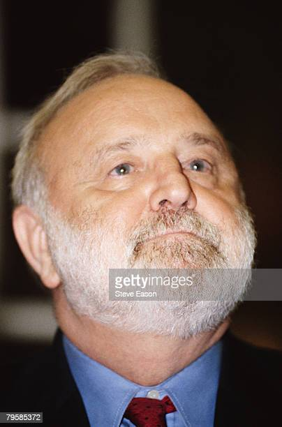 British politician Frank Dobson at Finchley Jewish Centre during his campaign as the Labour Party representative in the Mayor Of London election 12th...