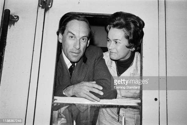 British politician Jeremy Thorpe with his wife Austrianborn British concert pianist Marion Stein UK 19th September 1975