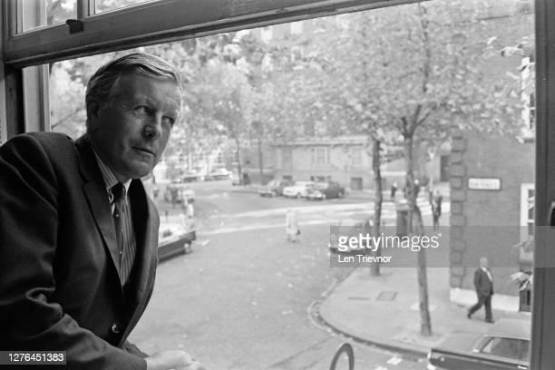 British politician Jo Grimond Leader of the Liberal Party at the party's new headquarters at Smith Square in London Westminster UK 25th October 1965