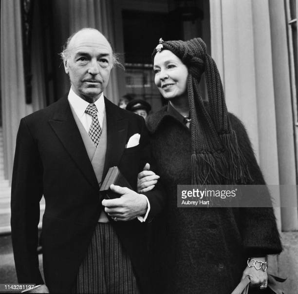 British politician John Profumo and his wife Irish actress Valerie Hobson UK 2nd December 1975