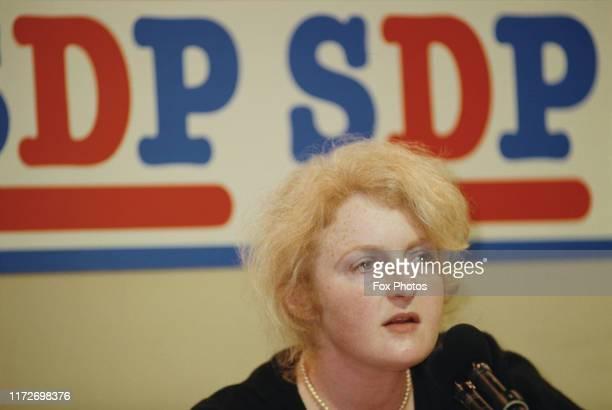 British politician Julia Neuberger at the SDP Conference, UK, 2nd September 1987.