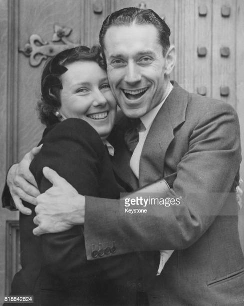British politician Ron Ledger , the new Labour MP for Romford, is reunited with his sister Joan Baker outside the House of Commons in London, 14th...