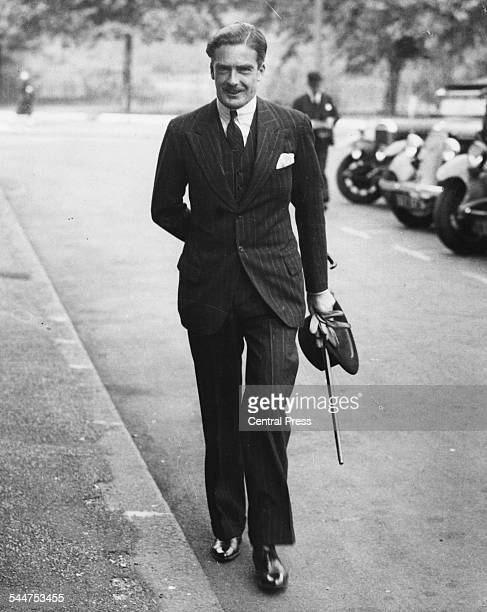 British politician Sir Anthony Eden walking to a Cabinet Meeting at 10 Downing Street London August 1935