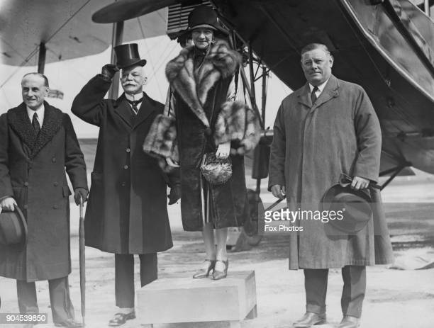 British politician Sir Samuel Hoare and Maud Lady Hoare with Sir Eric Campbell Geddes and Peter Charles Larkin the High Commissioner for Canada at...