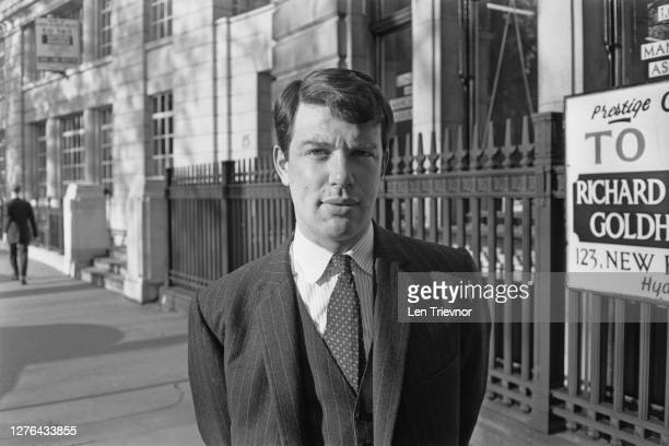 British politician Toby Jessel the Conservative Party candidate for Kingston Upon Hull North on Finsbury Circus in London UK 4th November 1965