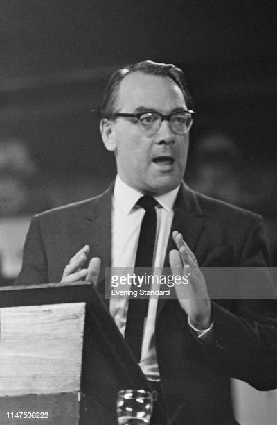 British politician Tom Bradley at the Labour Party Conference, Brighton, UK, 6th October 1969.